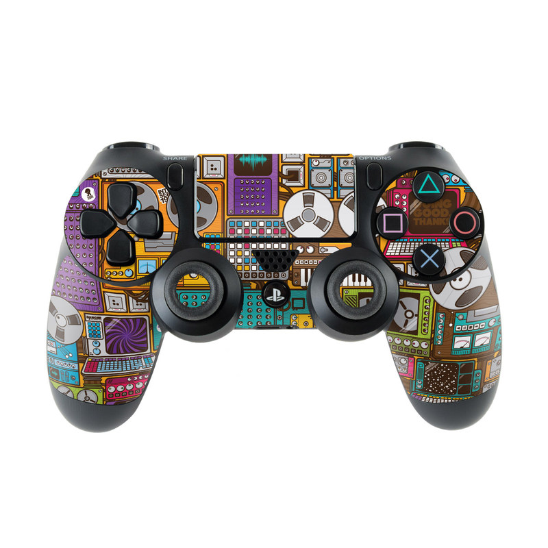 PlayStation 4 Controller Skin design of Games, Pc game, Design, Pattern, Screenshot, Art with gray, black, red, green, blue, purple colors