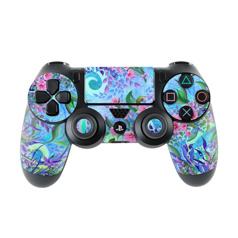 PlayStation 4 Controller Skin design of Psychedelic art, Pattern, Lilac, Purple, Art, Pink, Design, Fractal art, Visual arts, Organism with gray, blue, purple colors