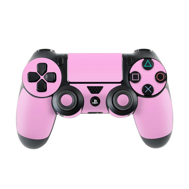 PlayStation 4 Controller Skin design of Pink, Violet, Purple, Red, Magenta, Lilac, Sky, Material property, Peach with pink colors