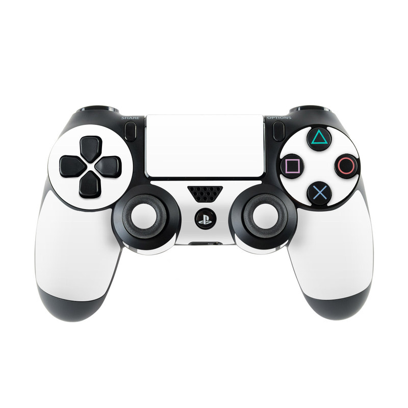 PlayStation 4 Controller Skin design of White, Black, Line with white colors
