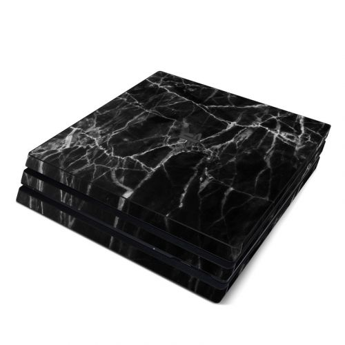 Black Marble PlayStation 4 Pro Skin