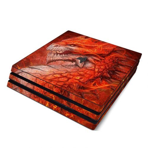 Flame Dragon PlayStation 4 Pro Skin