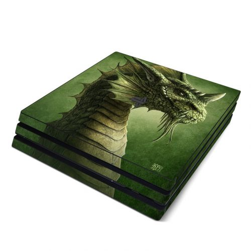 Green Dragon PlayStation 4 Pro Skin