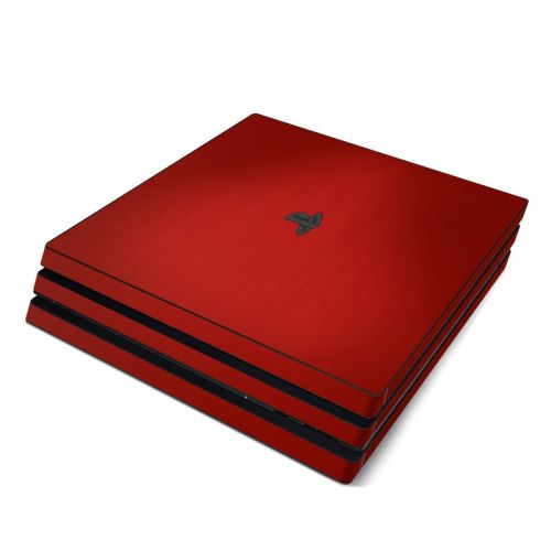 Red Burst PlayStation 4 Pro Skin