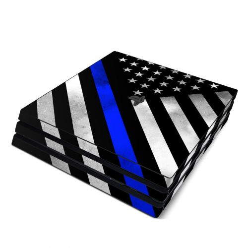 Thin Blue Line Hero PlayStation 4 Pro Skin