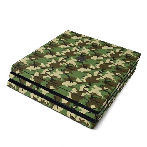 Woodland Camo PlayStation 4 Pro Skin