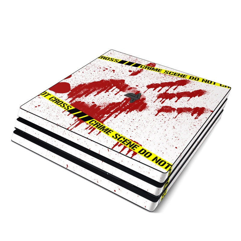 PlayStation 4 Pro Skin design of Text, Font, Red, Graphic design, Logo, Graphics, Brand, Banner with white, red, yellow, black colors