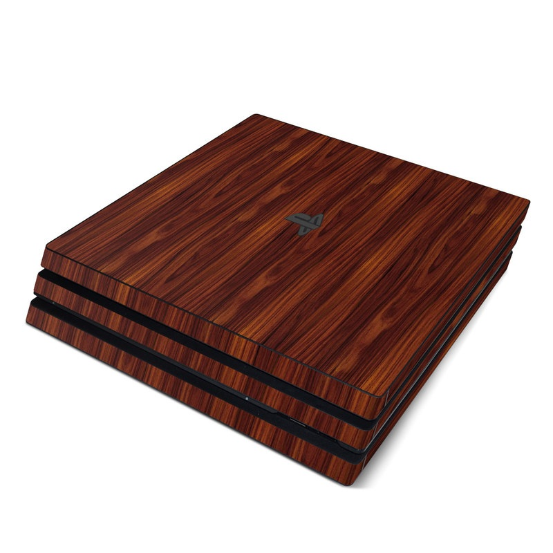 Dark Rosewood PlayStation 4 Pro Skin