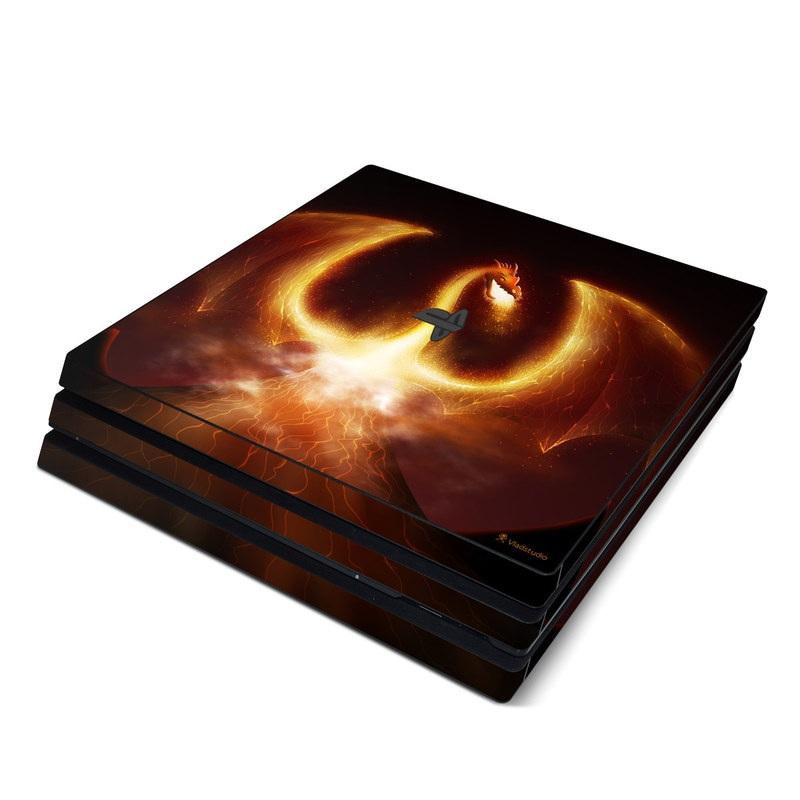 Fire Dragon PlayStation 4 Pro Skin