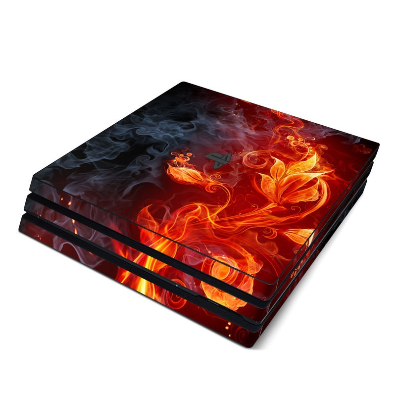 Flower Of Fire PlayStation 4 Pro Skin