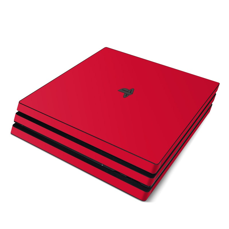 Solid State Red PlayStation 4 Pro Skin