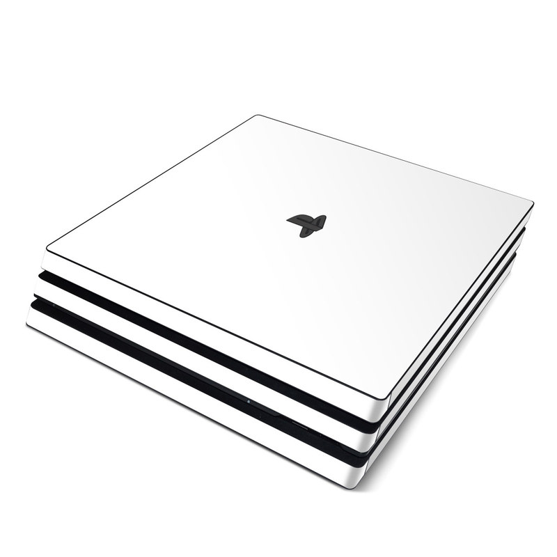 PlayStation 4 Pro Skin design of White, Black, Line with white colors