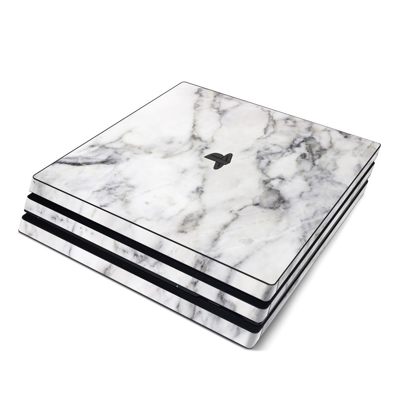 PlayStation 4 Pro Skin design of White, Geological phenomenon, Marble, Black-and-white, Freezing with white, black, gray colors