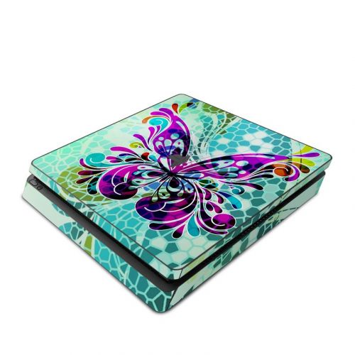 Butterfly Glass PlayStation 4 Slim Skin
