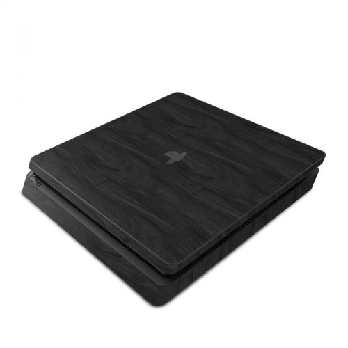 Black Woodgrain PlayStation 4 Slim Skin
