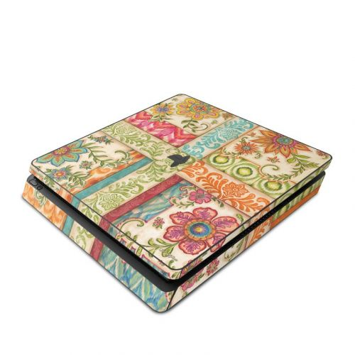 Ikat Floral PlayStation 4 Slim Skin