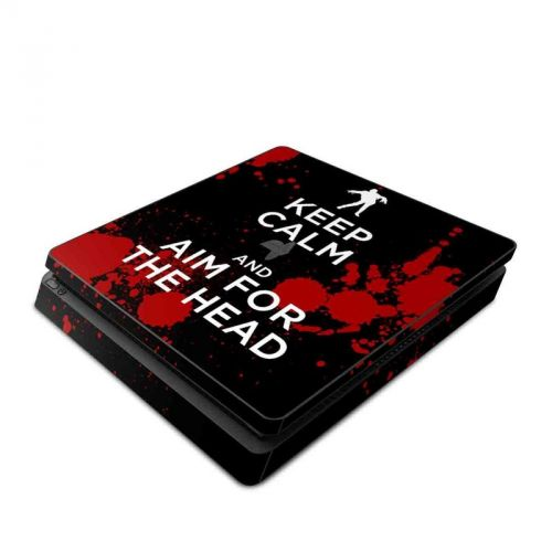 Keep Calm - Zombie PlayStation 4 Slim Skin