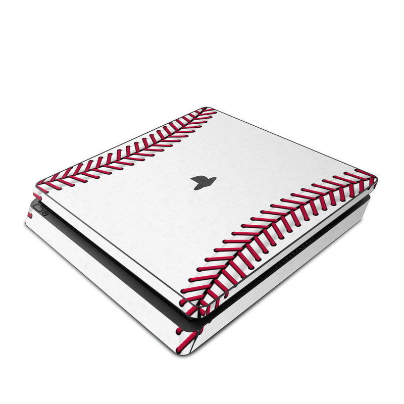 PlayStation 4 Slim Skin design of Red, Line, Pink, Parallel, Paper with white, red colors