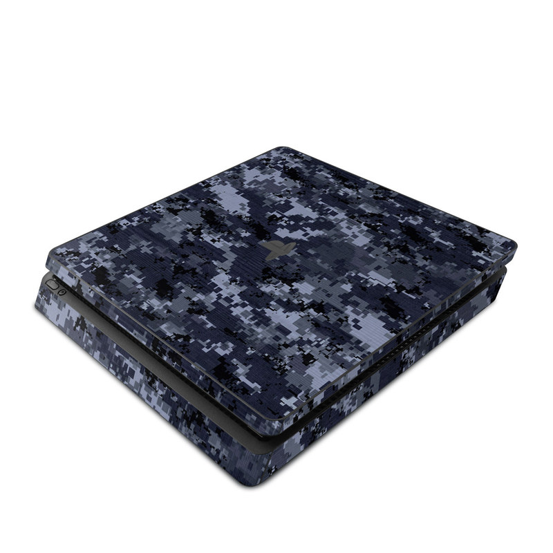 Digital Navy Camo PlayStation 4 Slim Skin