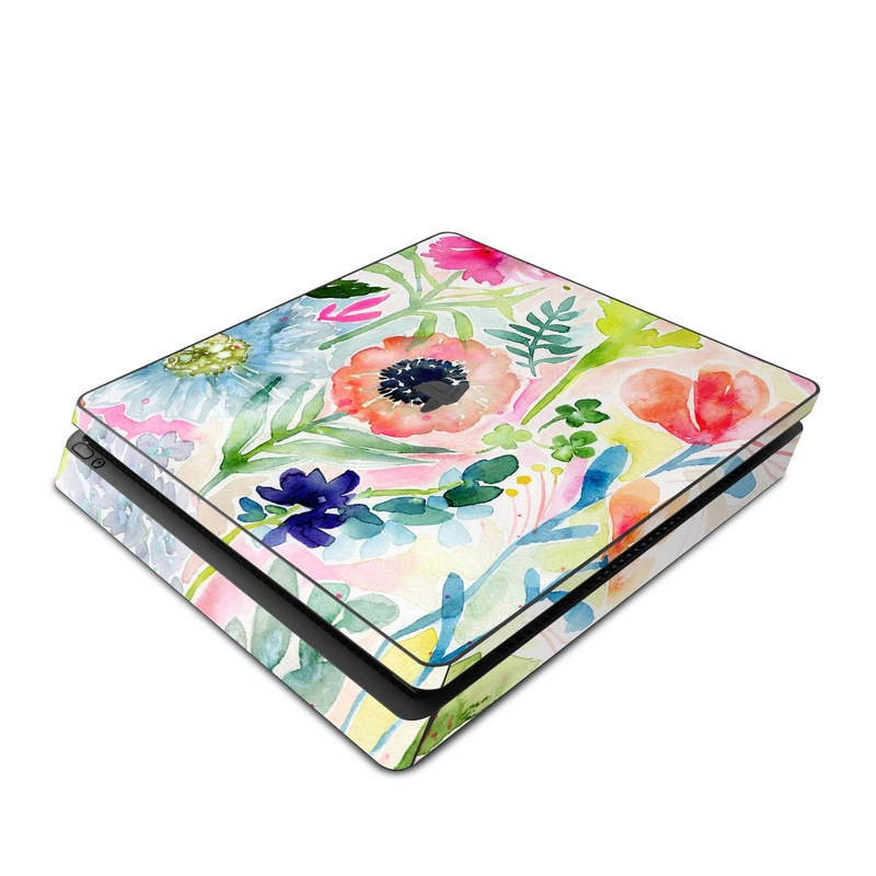 Loose Flowers PlayStation 4 Slim Skin