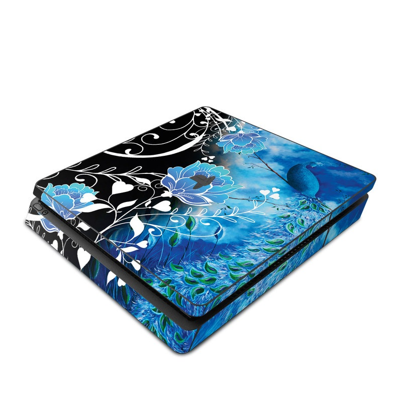 Peacock Sky PlayStation 4 Slim Skin