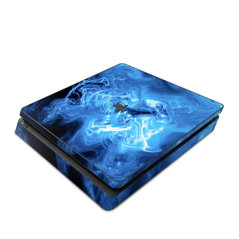 Blue Quantum Waves PlayStation 4 Slim Skin