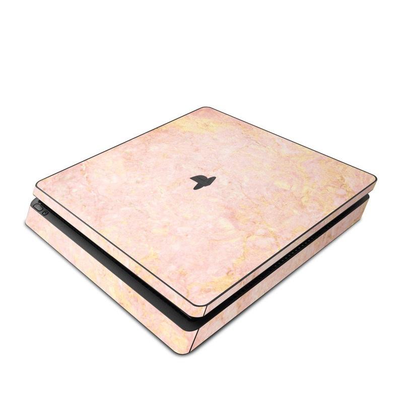 Rose Gold Marble PlayStation 4 Slim Skin