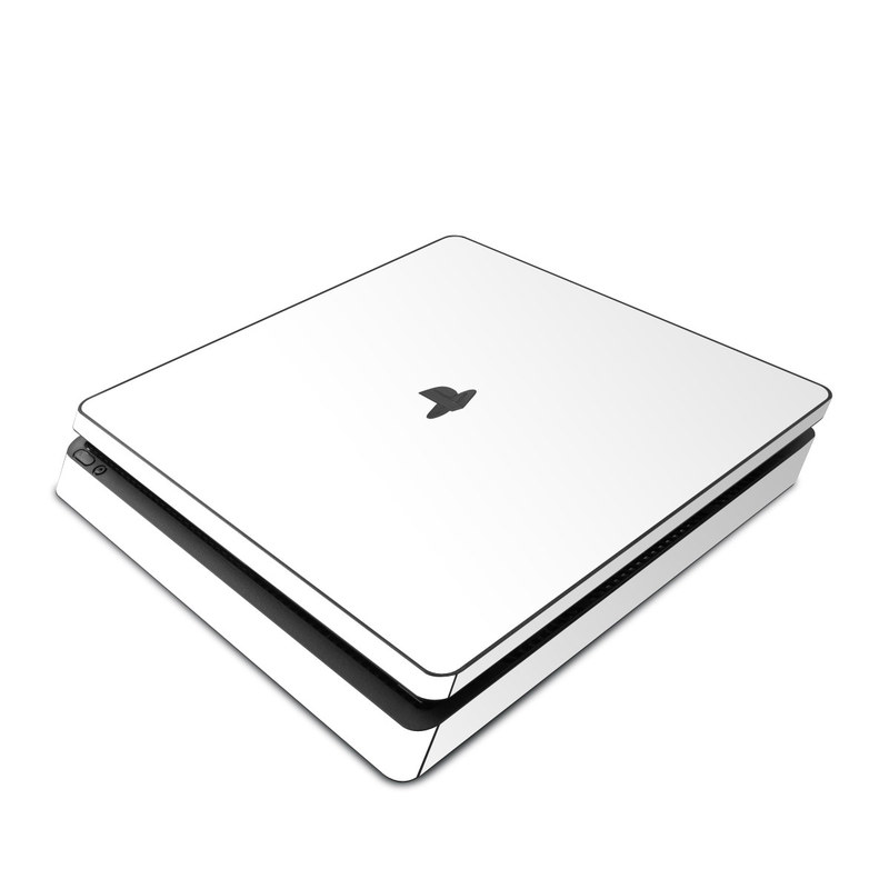 PlayStation 4 Slim Skin design of White, Black, Line with white colors