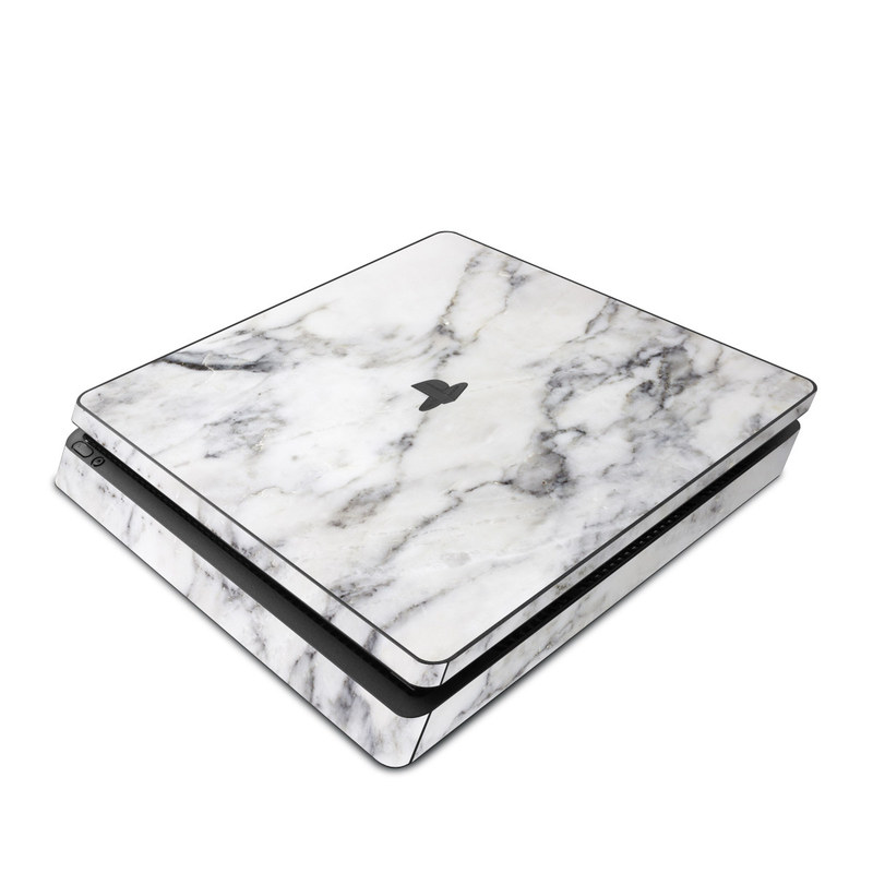 White Marble PlayStation 4 Slim Skin
