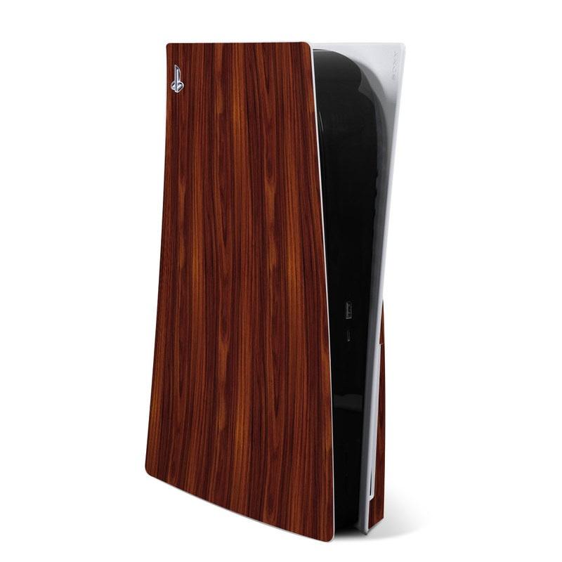 PlayStation 5 Skin design of Wood, Red, Brown, Hardwood, Wood flooring, Wood stain, Caramel color, Laminate flooring, Flooring, Varnish with black, red colors