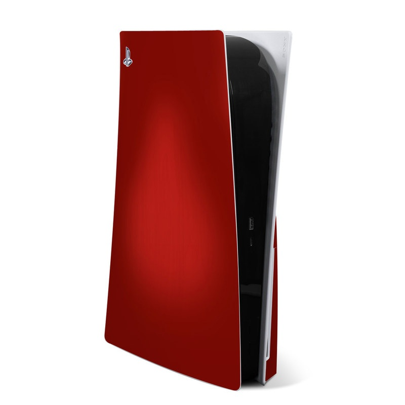 PlayStation 5 Skin design of Red, Maroon, Orange, Brown, Peach, Pattern, Magenta with red colors