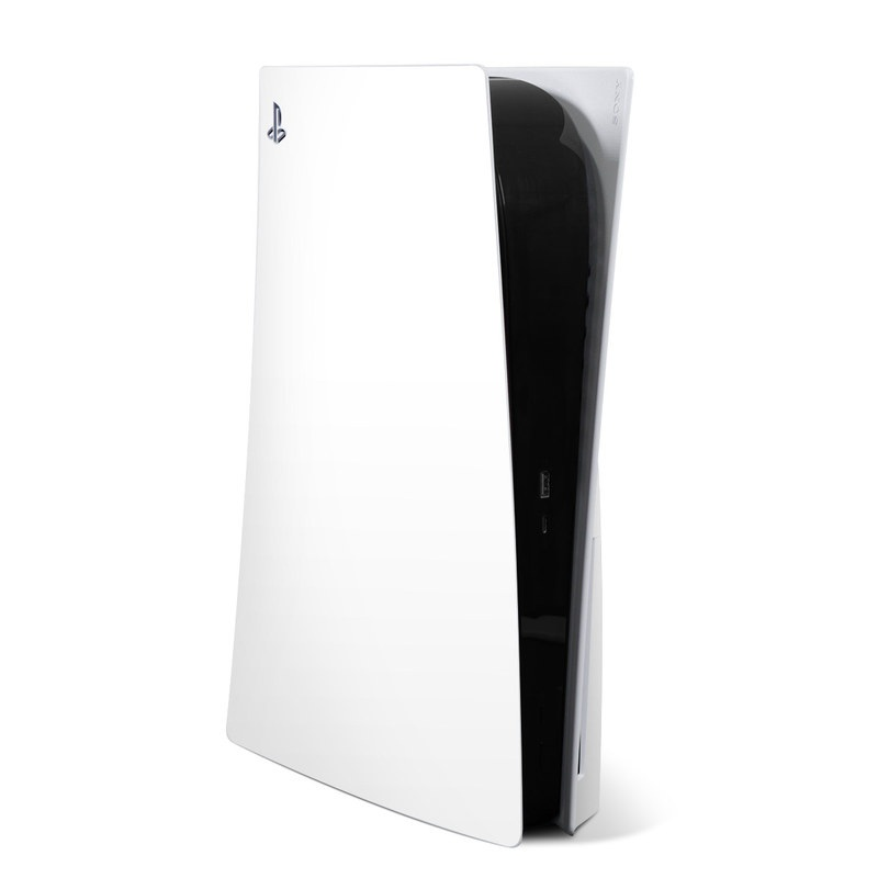 PlayStation 5 Skin design of White, Black, Line with white colors