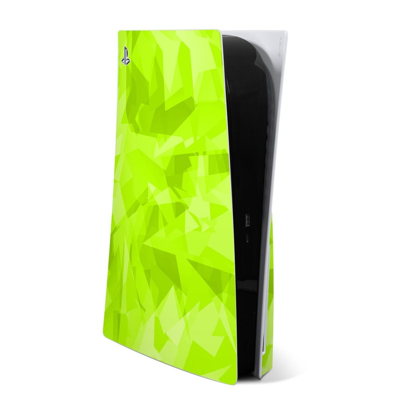 PlayStation 5 Skin design with green colors