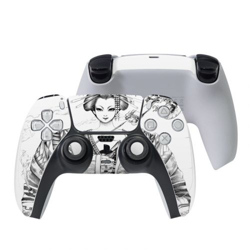 Geisha Sketch PlayStation 5 Controller Skin