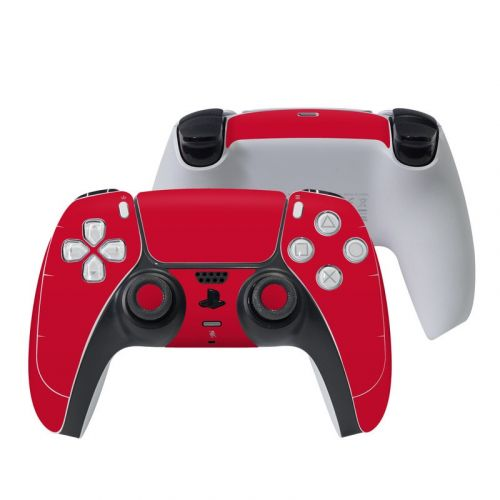 Solid State Red PlayStation 5 Controller Skin