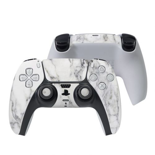 White Marble PlayStation 5 Controller Skin