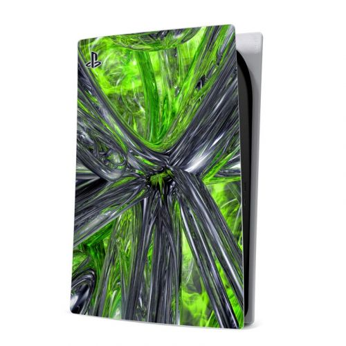 Emerald Abstract PlayStation 5 Digital Edition Skin