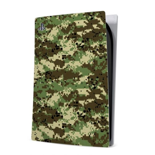 Digital Woodland Camo PlayStation 5 Digital Edition Skin