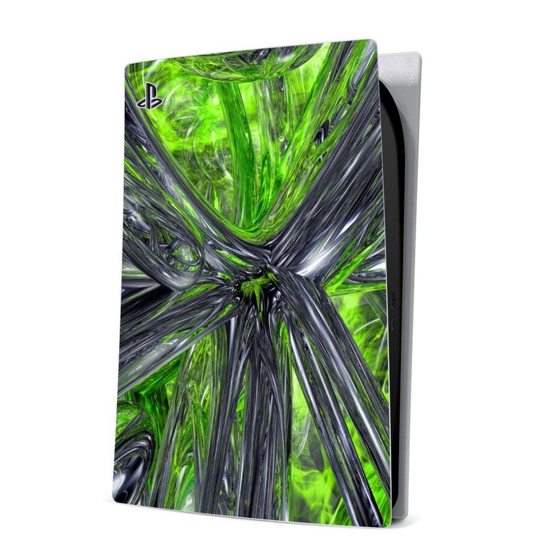 PlayStation 5 Digital Edition Skin design of Green, Tree, Leaf, Plant, Grass, Terrestrial plant, Botany, Woody plant, Arecales, Vascular plant with green, gray, black colors