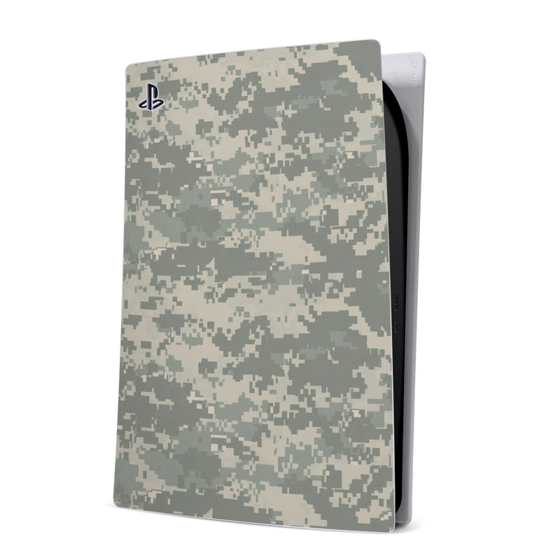 PlayStation 5 Digital Edition Skin design of Military camouflage, Green, Pattern, Uniform, Camouflage, Design, Wallpaper with gray, green colors