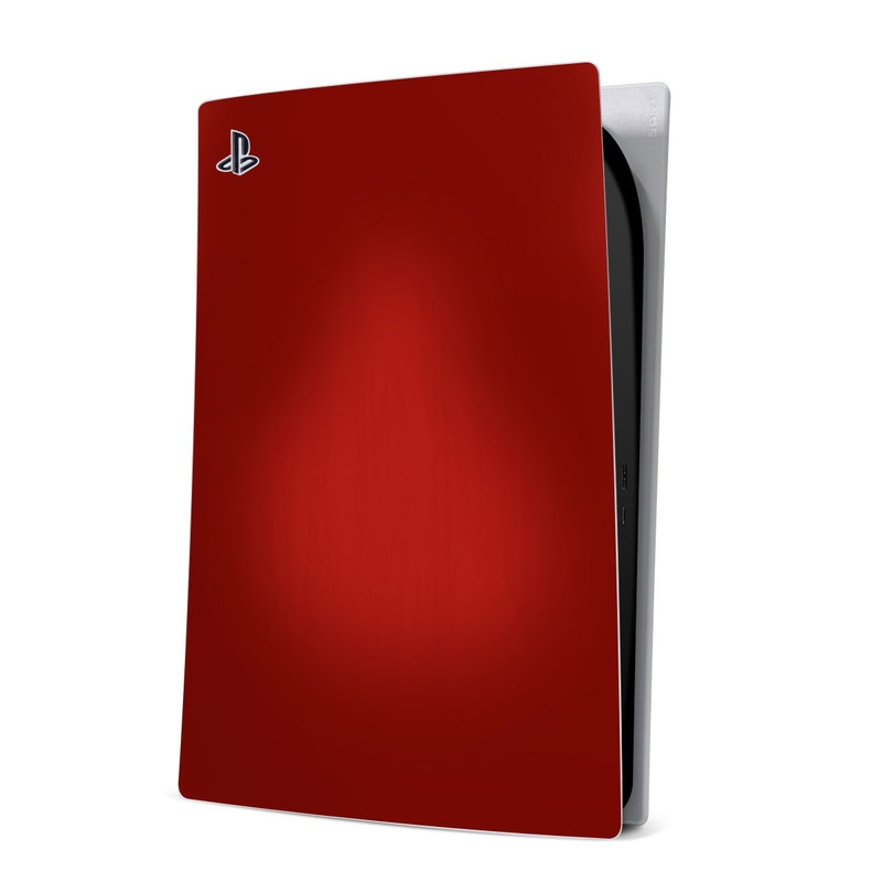 PlayStation 5 Digital Edition Skin design of Red, Maroon, Orange, Brown, Peach, Pattern, Magenta with red colors
