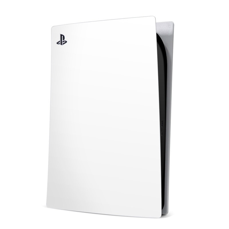 PlayStation 5 Digital Edition Skin design of White, Black, Line with white colors