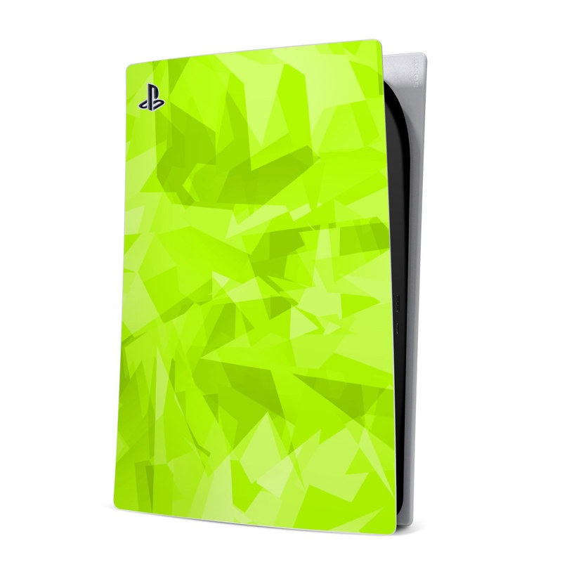PlayStation 5 Digital Edition Skin design with green colors