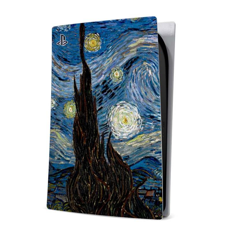 PlayStation 5 Digital Edition Skin design of Painting, Purple, Art, Tree, Illustration, Organism, Watercolor paint, Space, Modern art, Plant with gray, black, blue, green colors