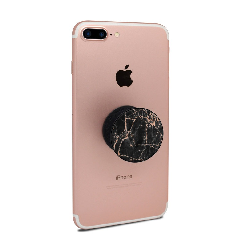 PopSocket Skin design of Branch, Black, Twig, Tree, Brown, Sky, Atmosphere, Plant, Winter, Night with black, pink colors