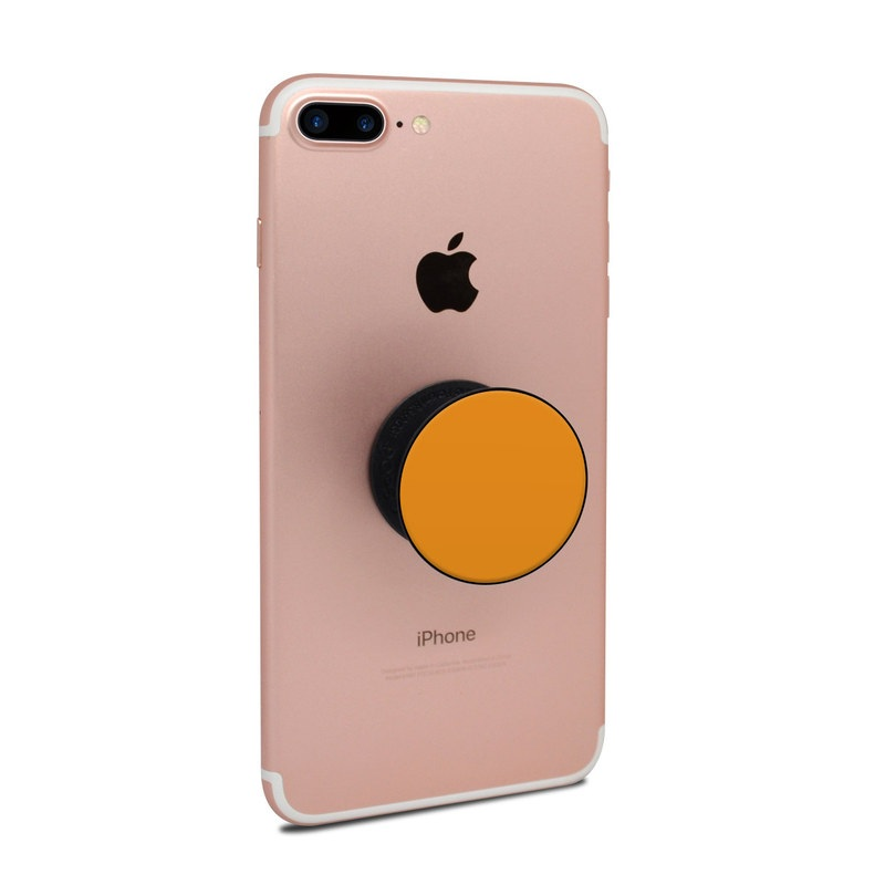PopSocket Skin design of Orange, Yellow, Brown, Text, Amber, Font, Peach with orange colors