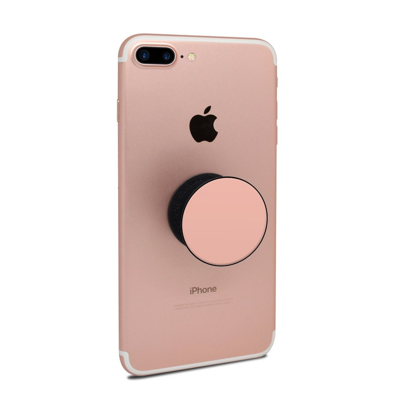 PopSocket Skin design of Orange, Pink, Peach, Brown, Red, Yellow, Material property, Font, Beige with pink colors