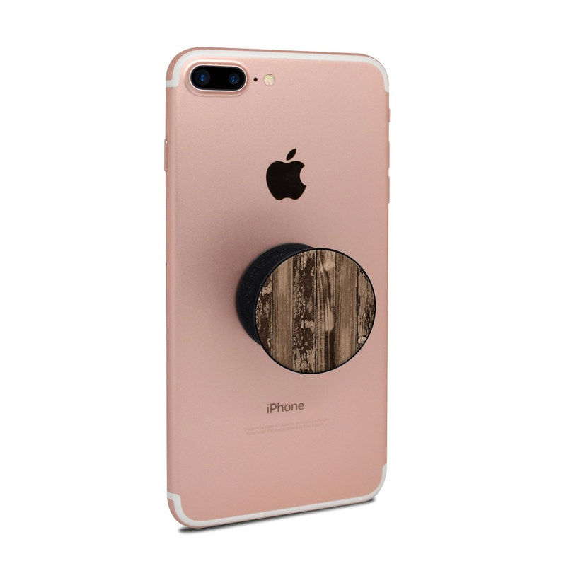 PopSocket Skin design of Wood, Tree, Brown, Plank, Trunk, Pattern, Line, Hardwood, Black-and-white, Forest with brown, black colors