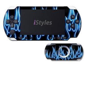 Blue Neon Flames PSP Skin