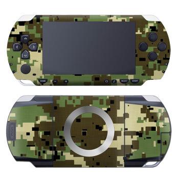 Digital Woodland Camo PSP Skin